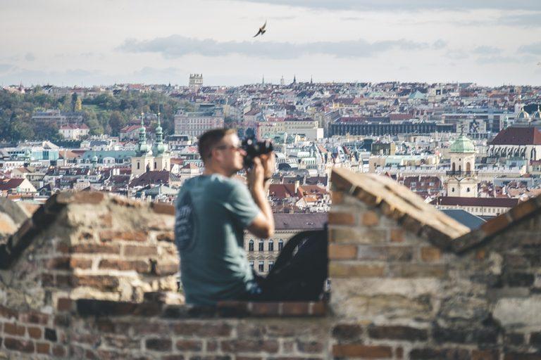 Die Selfiewand von Prag